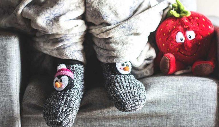 Inverno com pés aquecidos